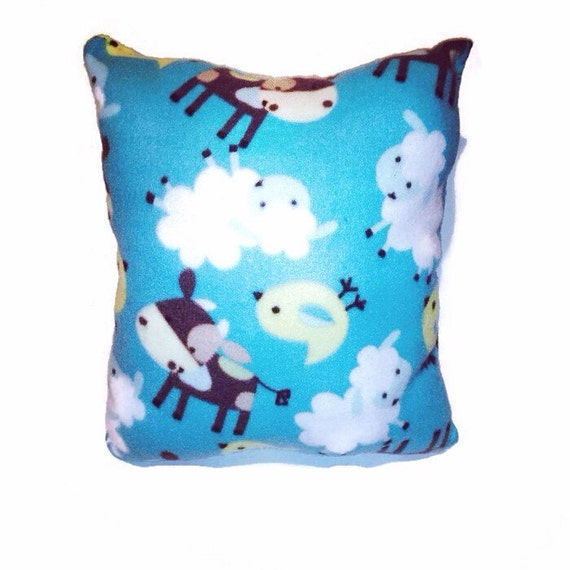 Kids Travel Pillow Animal Throw Pillow Travel by BlanketsByNaomi