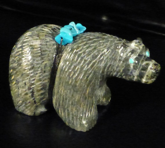 Bear zuni fetish stone carving native american by