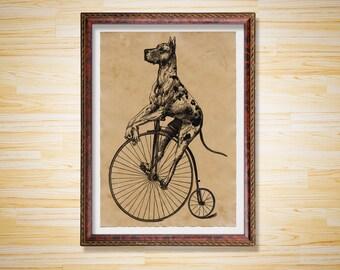 Animal poster Dane decor Dog print