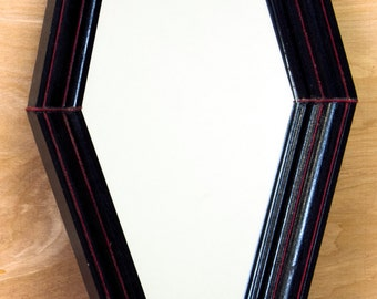 Coffin Black And Red Gothic Mirror