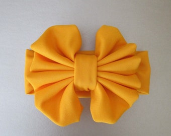 "6"" Mustard Yellow Floppy Bow Headband"