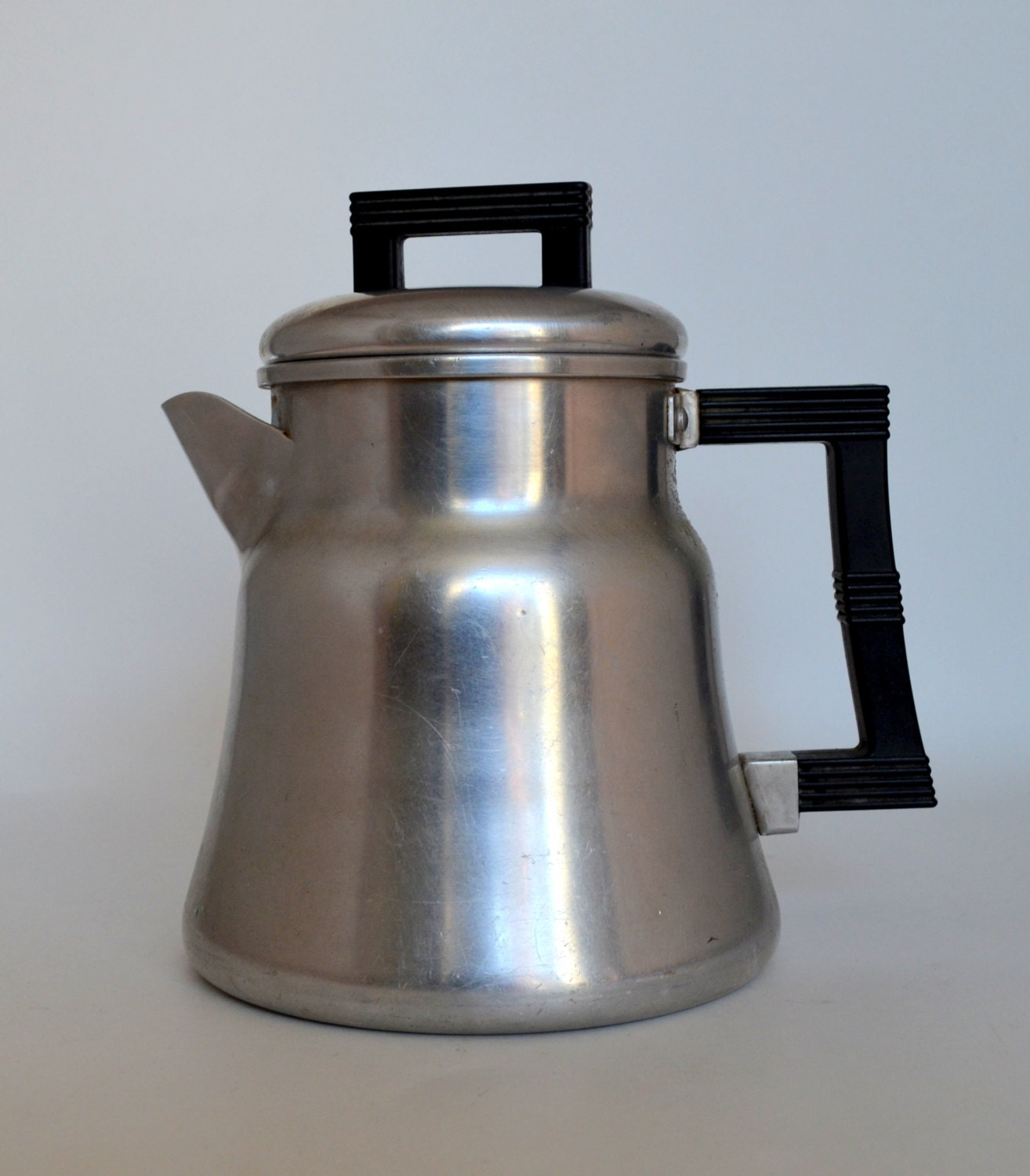Vintage wear ever coffee pot aluminum stove top percolator for Best coffee percolator