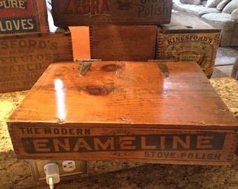 Enameline advertising crate or store display