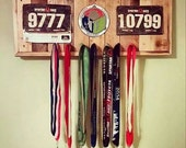 Spartan Race Medal Display With Recessed Spot For Trifecta Medal Holder