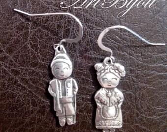 Silver Earrings, Dangle Earrings, Zamak Earrings, Sterling Silver, Modern, Women Gift, Gift Her, Gift Idea, Girl Gift, Valentines Gift