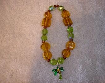 Palm Tree Charm Bracelet