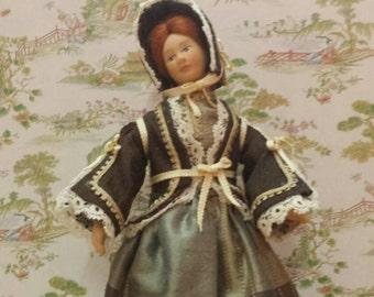 Doll scale 1/12 Victorian .vestido
