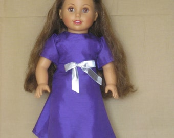 "18"" Doll Purple Dress"