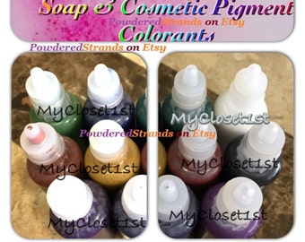10 mL Clear Melt & Pour Liquid Pigment Colorant for Soaps and Lotion making Choose Your Color for White MP Glycerin Soapmaking DIY Coloring