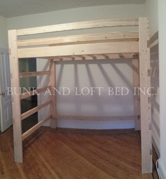 extra tall supreme twin size loft bed with double youth safety. Black Bedroom Furniture Sets. Home Design Ideas