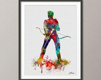 Hawkeye, Print, Watercolor, Hawkeye poster, Hawkeye, Art, Heroes Illustrations, Watercolour, Wall, Artwork, Hawkeye, Gift, Home Decor A107