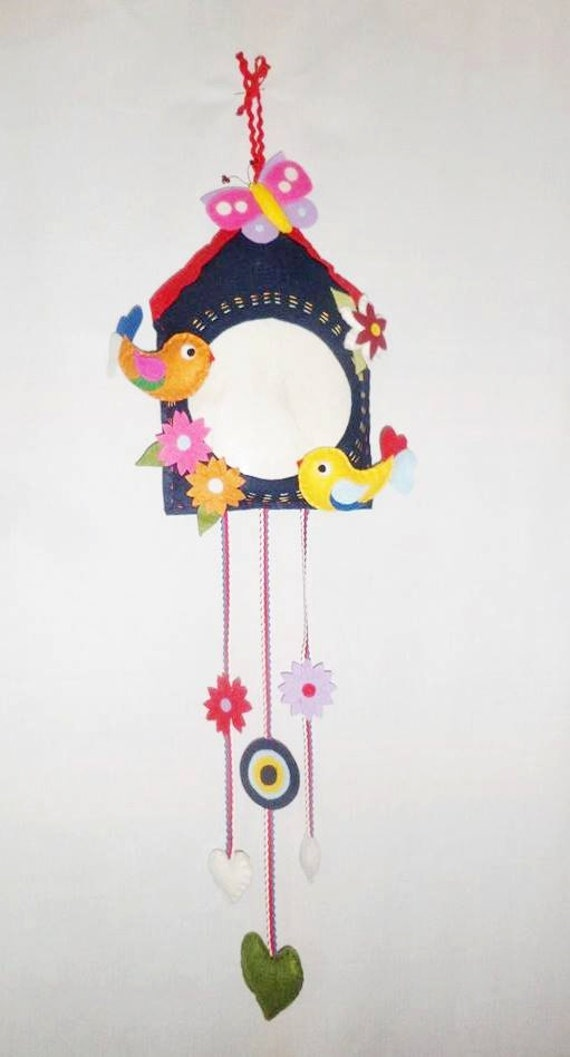 Items similar to felt ornament felt wall door hanging for Handmade things for decoration