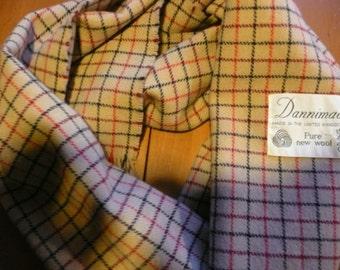 Vintage 1960's wool Dannimac scarf. Made in UK