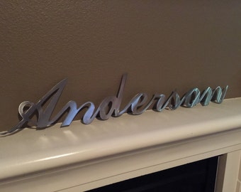 Large Metal Sign Stainless ( use note to seller box at checkout)