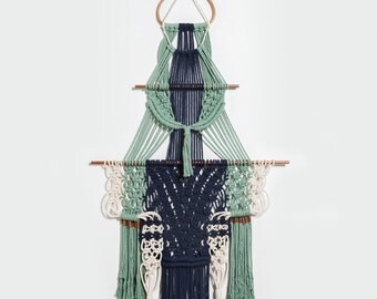 """Navy is Never Boring....Macrame Wall Hanging by """"@nickersanne"""" of Nicole Pollock Design."""