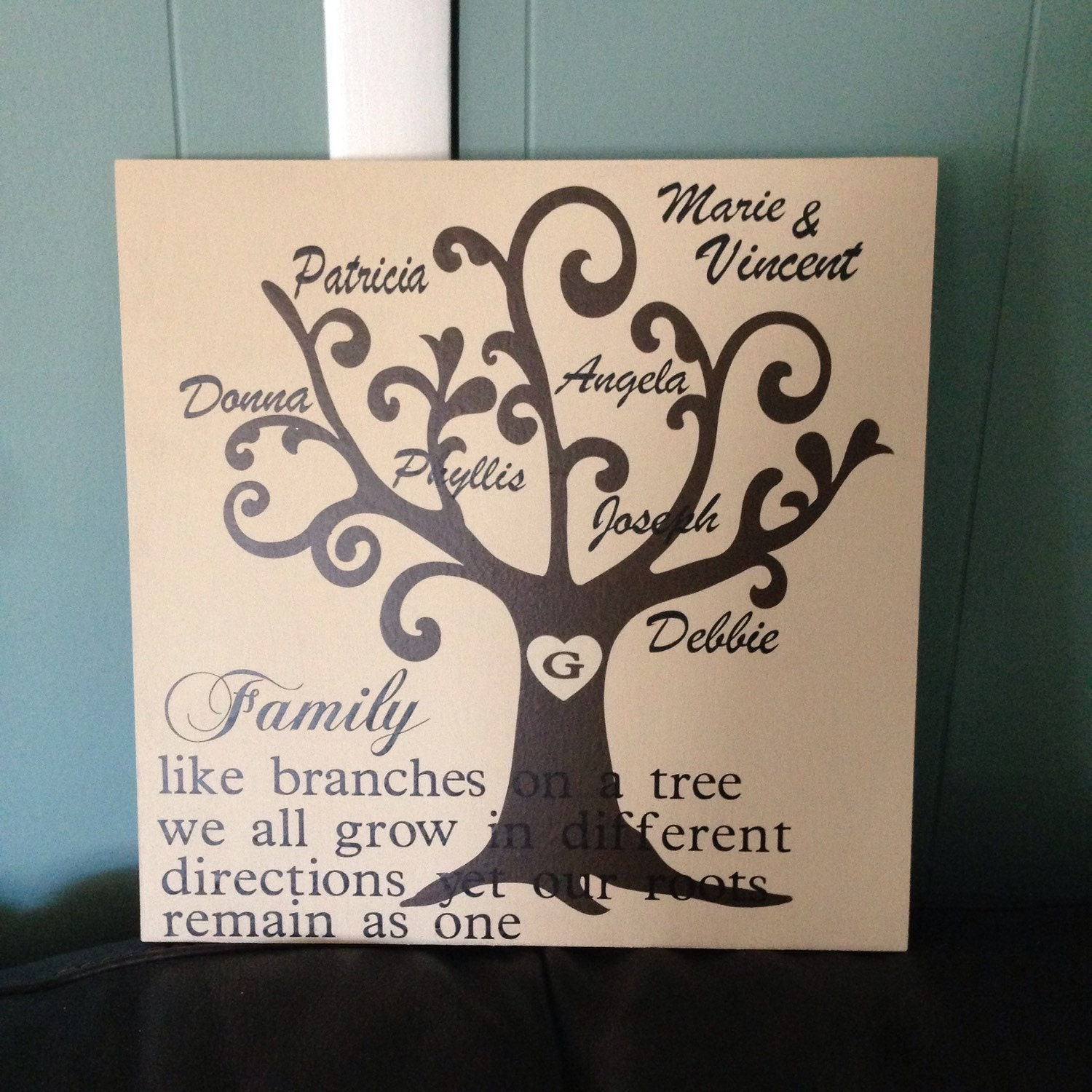 Family Tree Wooden Sign Personalized Family Tree By
