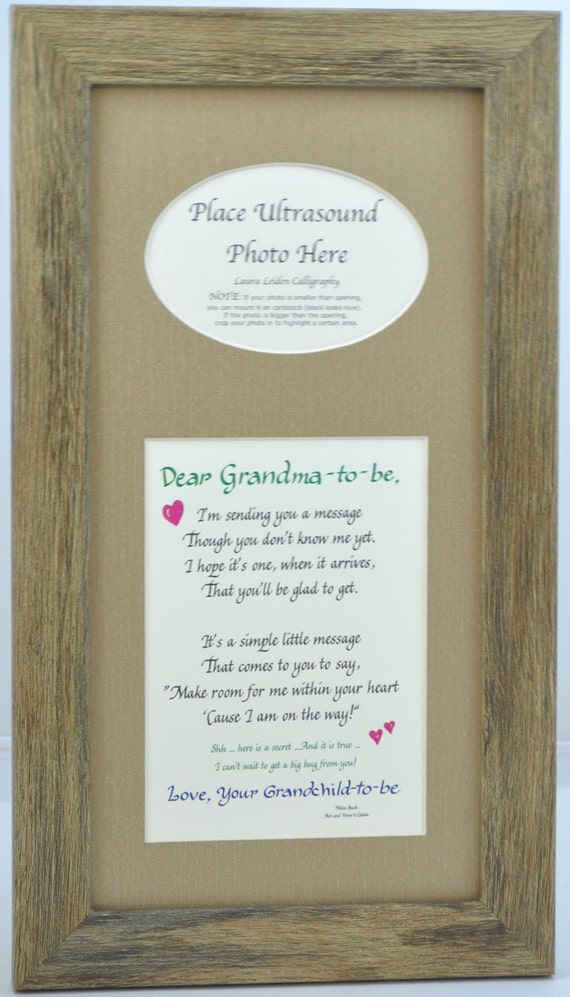 7x14 grandma to be ultrasound frame grandmother gift sonogram picture several mat and frame options