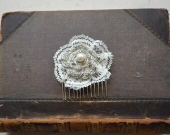 Beautiful and feminine bridal hair comb