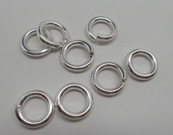 925 solid sterling silver jump rings open 11 5 mm handmade