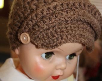 Paper Boy crocheted hat