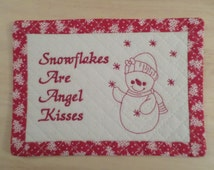 Embroidery Design Snowman Hotpad