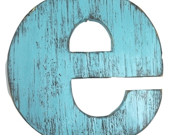 Rustic baby nursery letter e wall hanging 12 inch letter housewares guest book letter home decor personalized initial painted Rapids