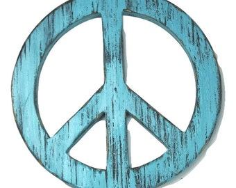 Rustic Peace Sign 12 inch wall decoration handmade personalized wall decor cabin decor painted Rapids