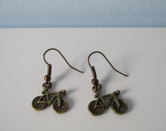 Bicycle Earrings - Bike Earrings - Cycling jewellery - Old school jewellery