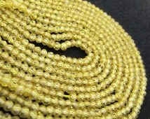 AAA Quality13-14 inches Yellow CZ Beads,Exclusive Yellow Zircon Beads 3mm, YellowGemstone Strand, Cubic Zirconia Strings