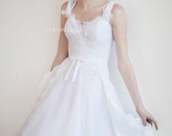 "Wedding dress Romantic gown Garden Wedding  Wedding dress from Silk organza and lace Bohemian wedding dress Boho gown-""Ginser"""