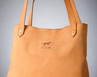 Large leather tote, Leather shoulder bag, Leather tote bag, Leather tote, Ginger tote bag, Brown leather bag, Large shoulder bag