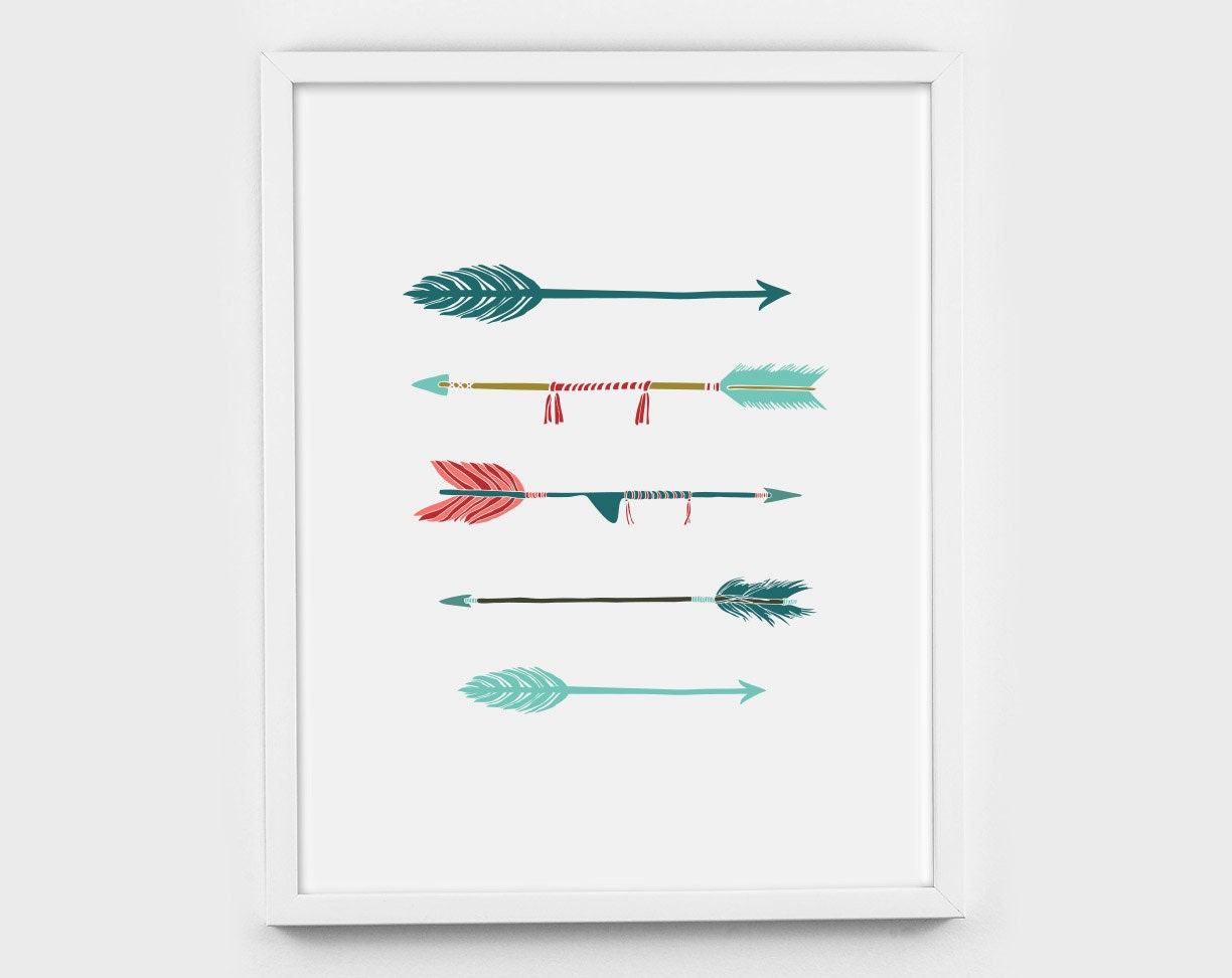 Arrows For Wall Decor : Horizontal arrows art decor wall printable by