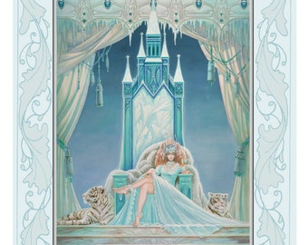 Fantasy, Fairy print from original artwork titled  'The Ice Queen'