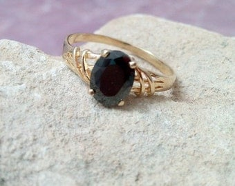 SALE!Prong Setting ring, Black Onyx Ring,Gemstone Ring,Stacking Ring, Gold Ring,Birthstone ring,Oval Lace Ring, gift for her