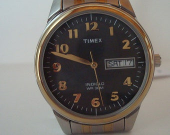 Vintage Timex Indiglo 30 M - two-tone band