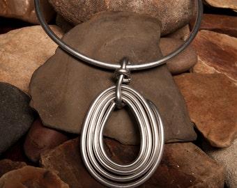 Unique Aluminum Wire Choker Necklace