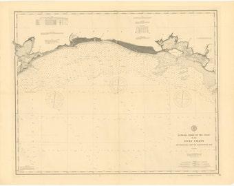 Gulf Coast Historical Map 1890
