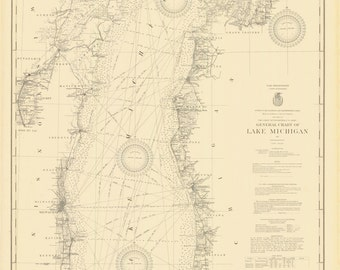 Lake Michigan Map 1927