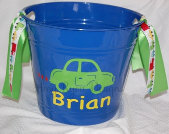 Vroom Vroom Personalized Car Bucket for Valentine's Day, Easter, or Any Other Occasion