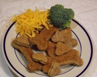 Organic Cheddar Broccoli Dog Treats