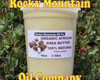 2 lb Organic Virgin Raw Shea Butter Unrefined 32 oz Grade A