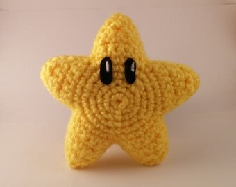 Crochet Super Mario Power Star Plush