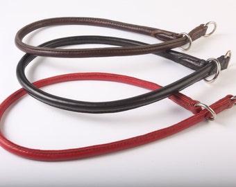 Altobello Rolled leather choke collar
