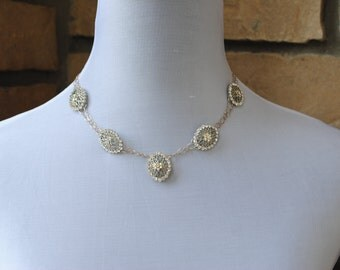 Sterling Silver and Rhinestone