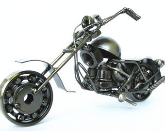 New Handmade Diecast Classic Harley Davidson Motorcycle Model 12