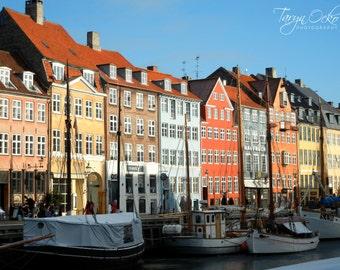 Copenhagen Nyhavn Port Photography Print