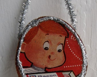 Bacon Boy Retro Style Ornament