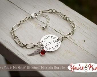 I Carry You In My Heart - Memorial Bracelet