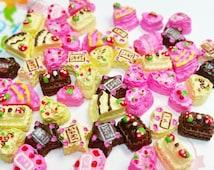 10 pcs Tiny Miniature Sweets Deco Cabochon Mix Assorted Resin 3D Cake ~ D1-04
