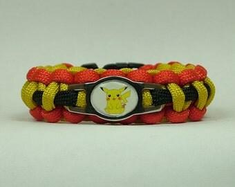 Pokemon Pikachu  Survival Paracord Bracelet